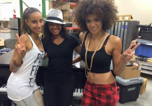 Kayla Keyz Waters, Natalie Cadet and Candace Waters at Rhodes Fest Aug 22, 2015